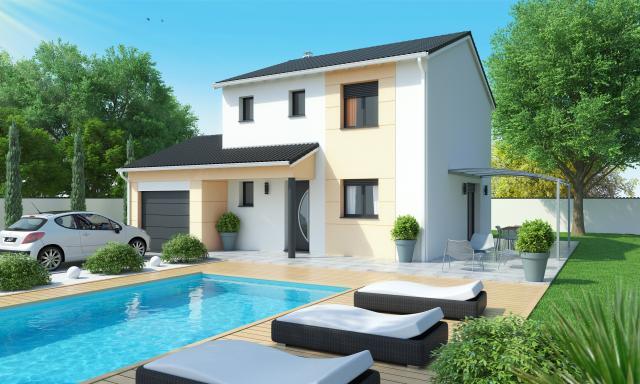 Maison tage compacte fluorine logivelay for Ajouter un etage a une maison