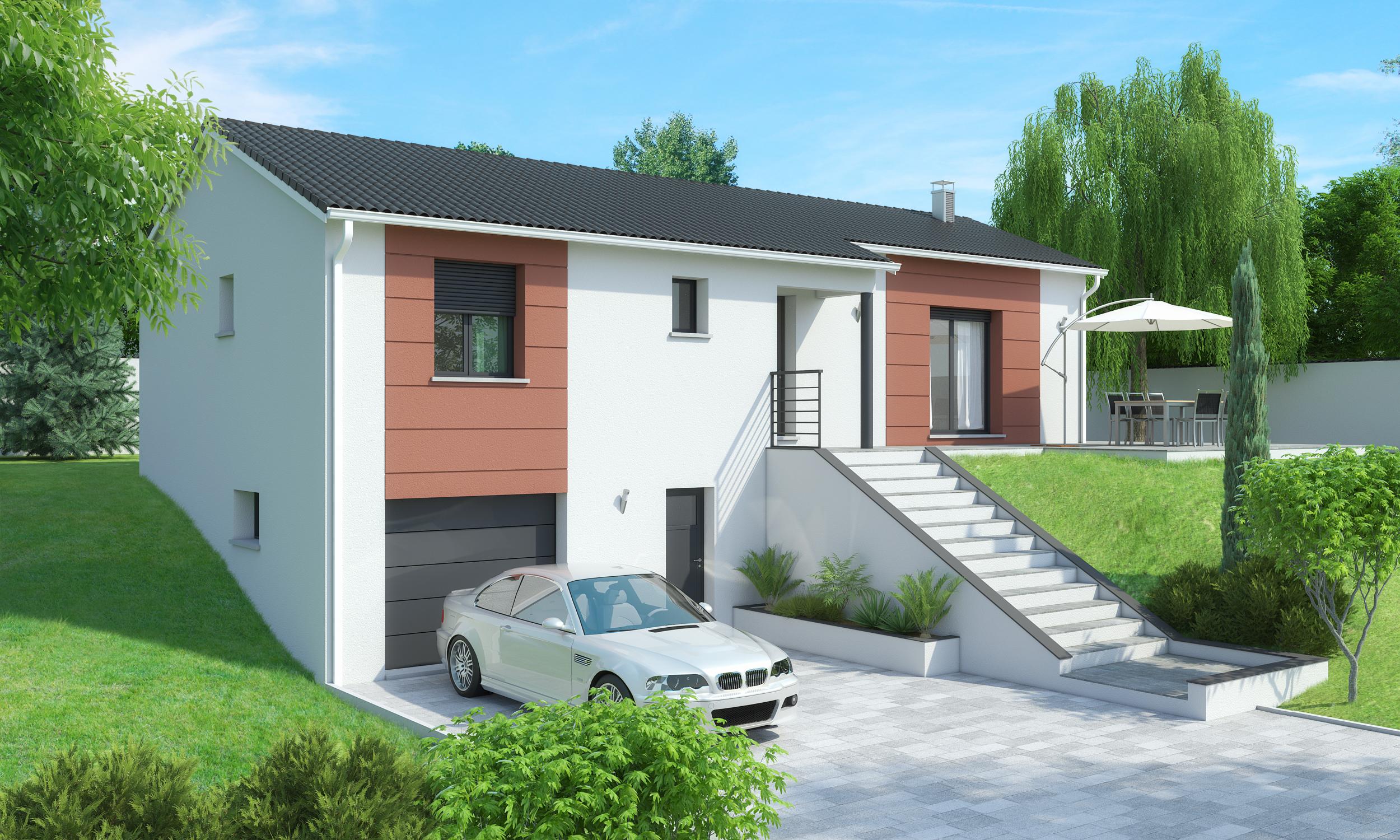 Maison sous sol vals pr s le puy terrain maison for Modele maison avec sous sol complet