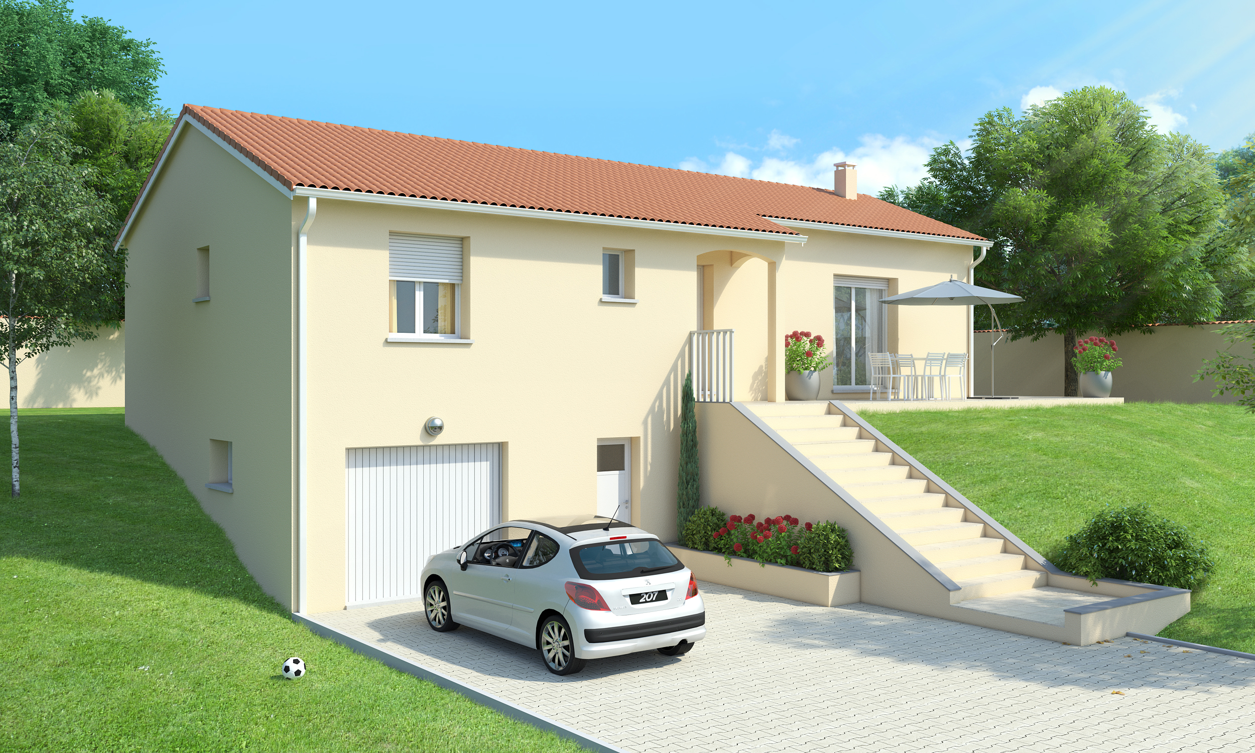 Maison sous sol complet saphir logivelay for Prix amenagement sous sol