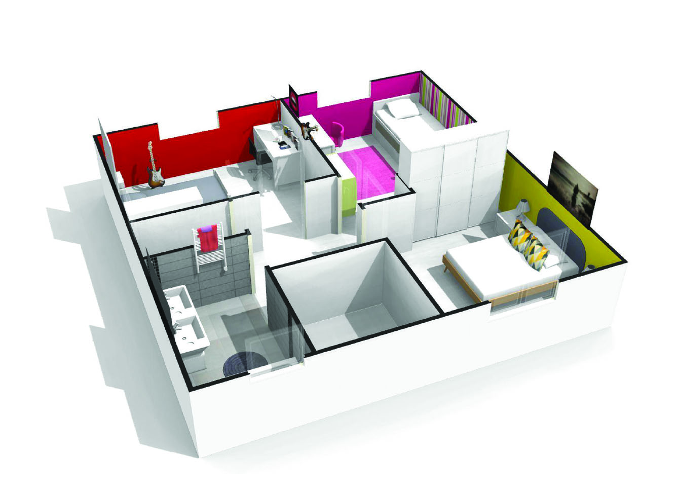 Fabulous Maison Chambres Corail Faire Construire With