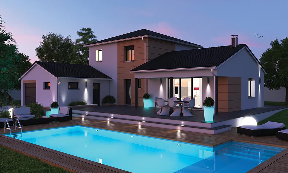 construire une maison de 200m2 - maison 4 chambres corail faire construire