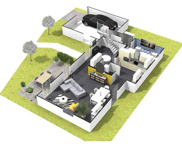 Maison 4 chambres corail faire construire for Construction maison 4 chambres