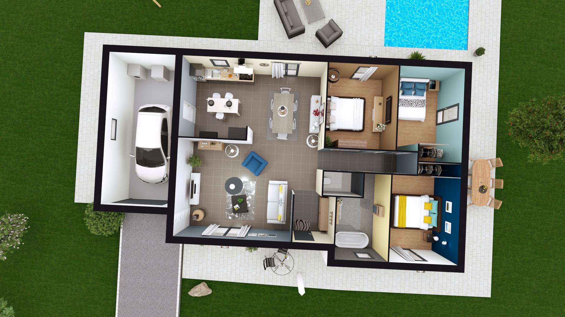 construire sa maison plain pied ventana blog. Black Bedroom Furniture Sets. Home Design Ideas