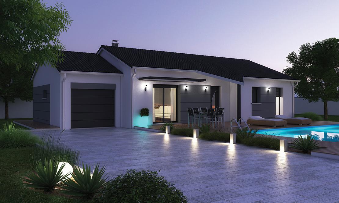 Faire construire une maison plain pied moderne - Modele maison plain pied 3 chambres ...