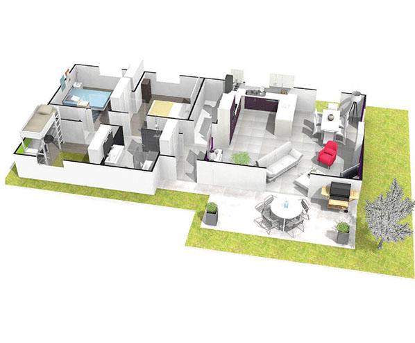Maison sous sol complet saphir logivelay for Plan complet maison