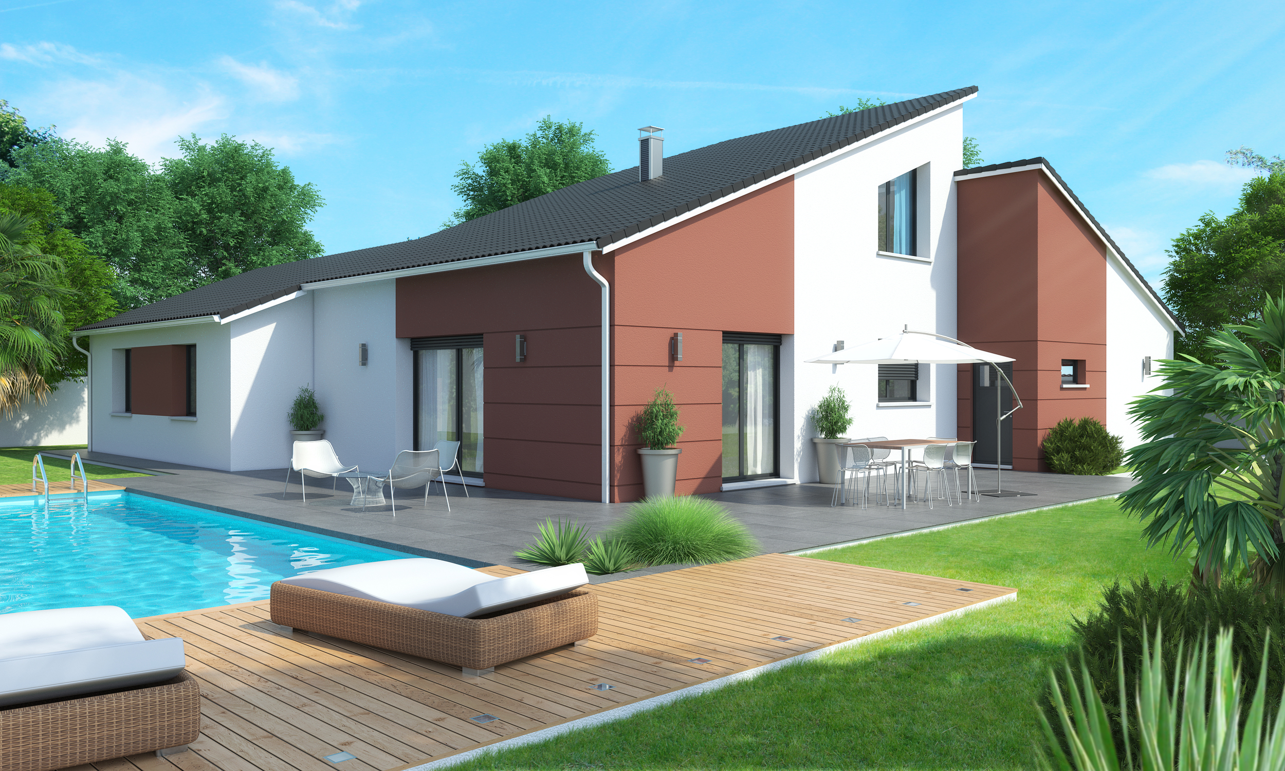 Belle maison contemporaine pr s issoire - Ma maison contemporaine ...