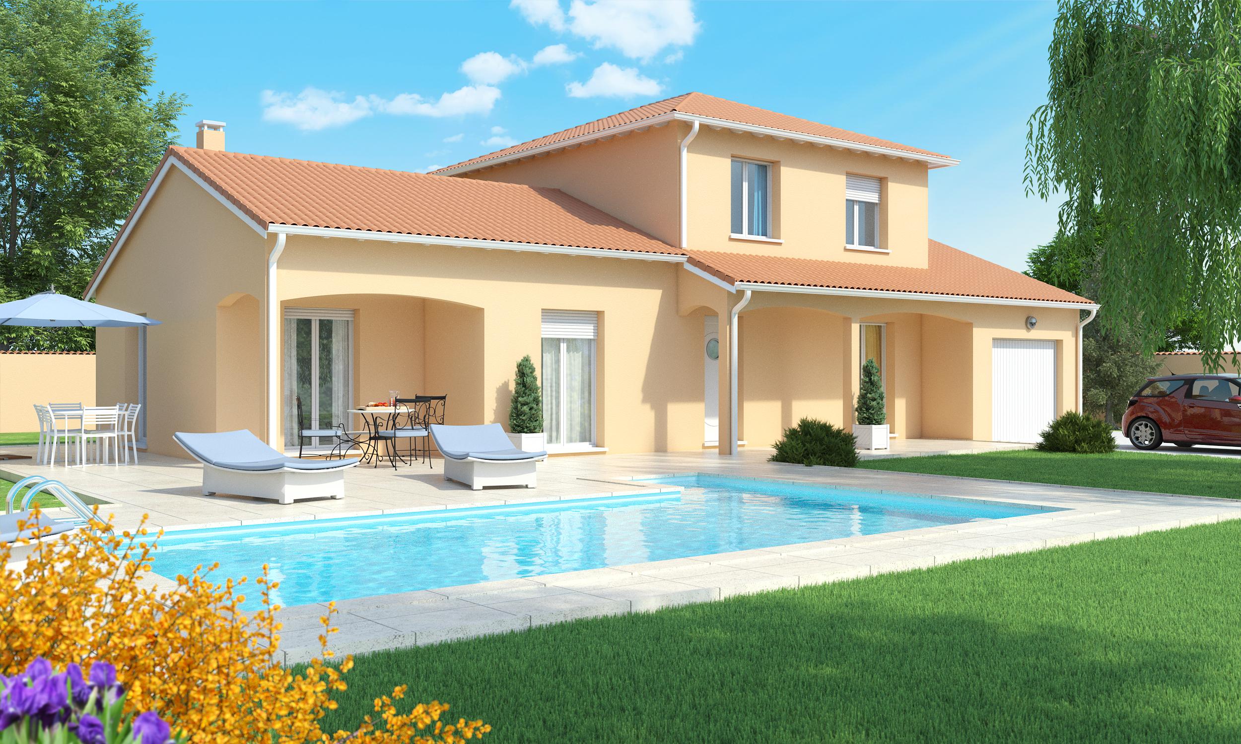 Maison proche issoire 3 chambres for Porche maison moderne