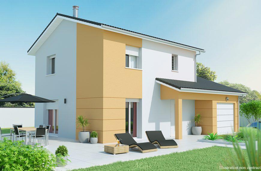 maison à étage contemporaine