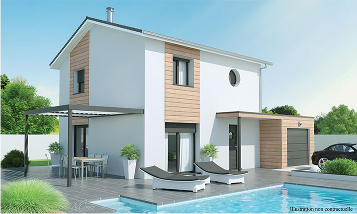 Maison tage contemporaine alixia 2 for Modele maison etage contemporaine