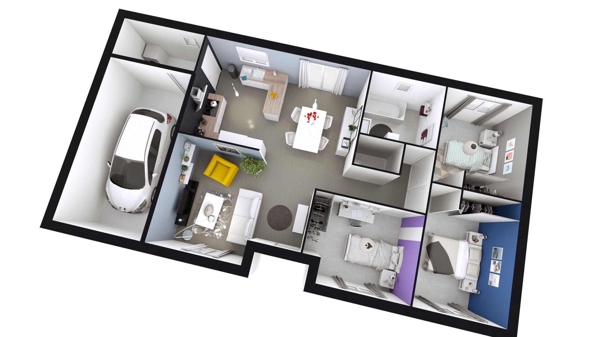 Plan De Maison Une Maison Moderne Et Fonctionnelle 9