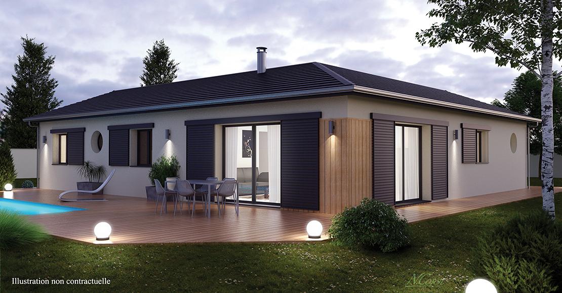 Mod le de maison plain pied en l - Modele de maison en l ...