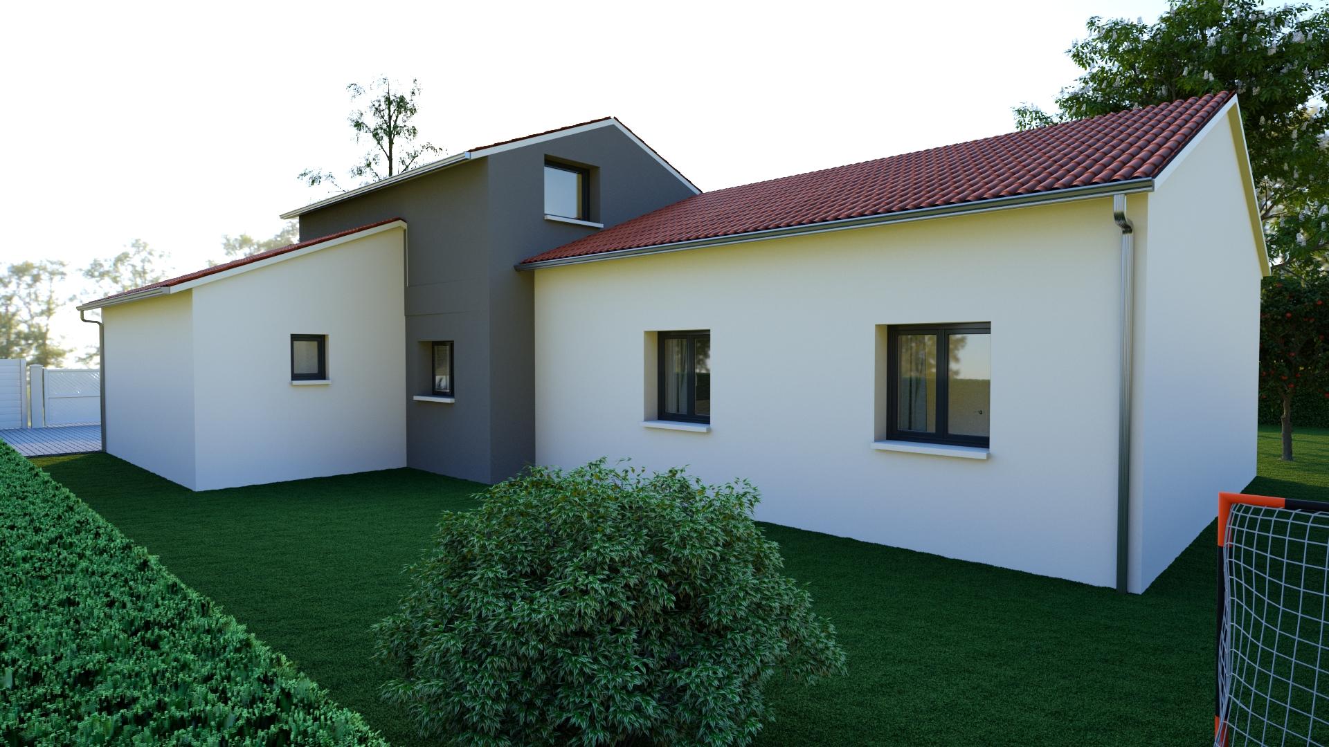 maison plain-pied 4 chambres contemporaine
