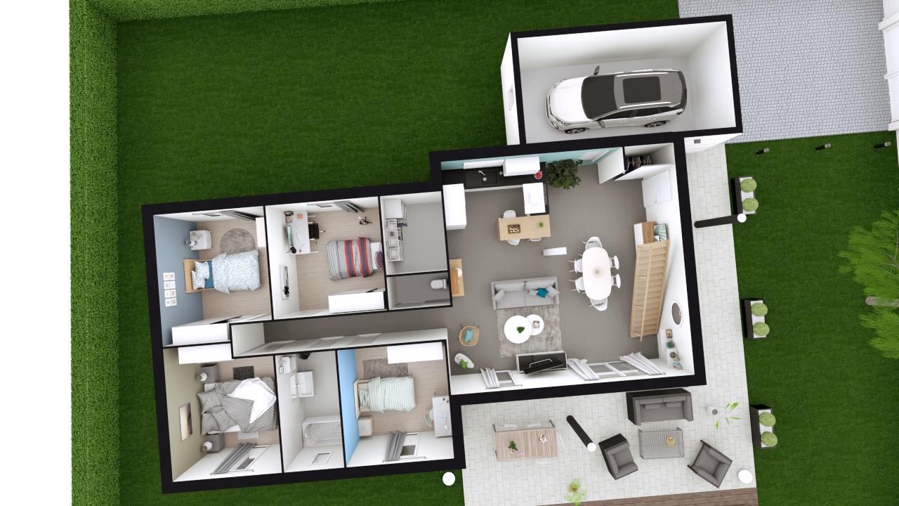 Plan Maison 4 Chambres Gratuit Maisons Clair Logis