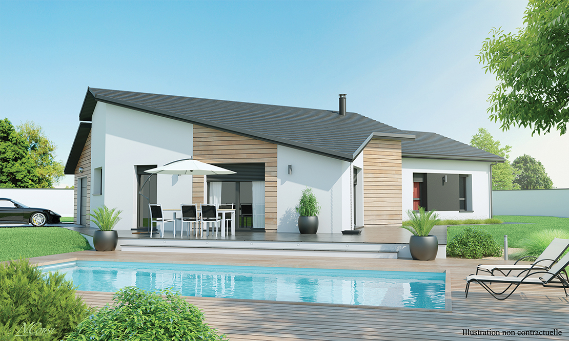 maison design de plain pied. Black Bedroom Furniture Sets. Home Design Ideas