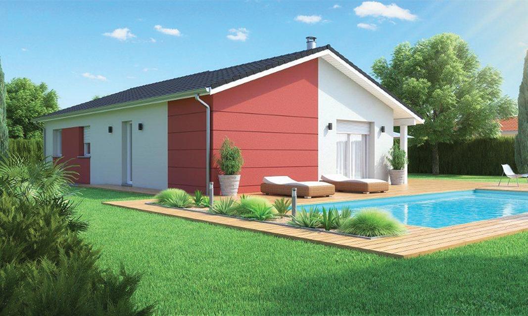 maison plain pied moderne douceur champ tre. Black Bedroom Furniture Sets. Home Design Ideas