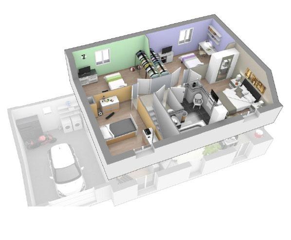 Maison moderne à étage à construire