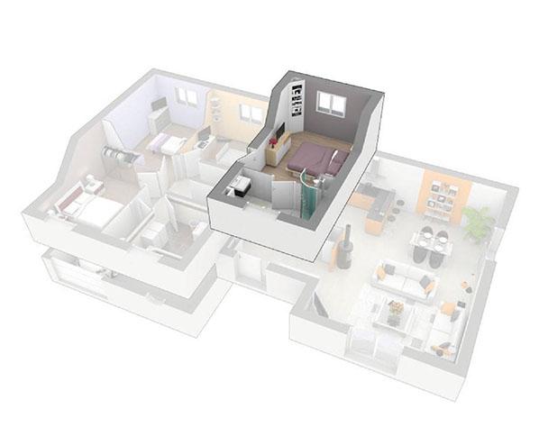 Maison contemporaine à étage haute loire