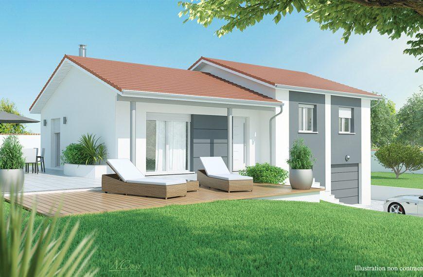 maison moderne à étage Rayon de soleil