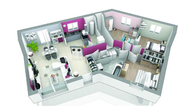 Maison contemporaine sous sol complet r ve d 39 ailleurs for Plans de maison de famille