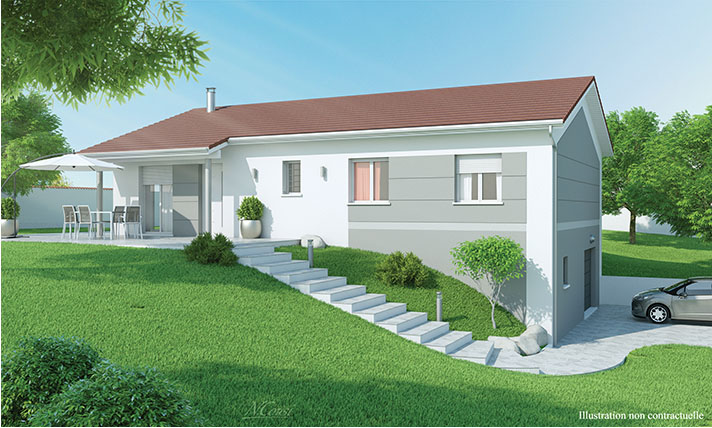 maison moderne sur sous sol rose des vents. Black Bedroom Furniture Sets. Home Design Ideas