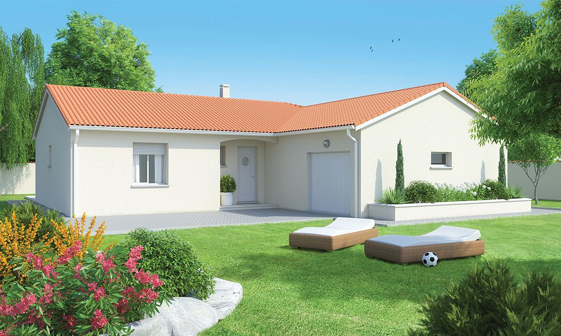 Maison arkoze plain pied configuration l logivelay - Maison en l plain pied ...