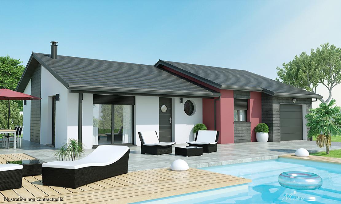maison plain pied t4 brioude 43100. Black Bedroom Furniture Sets. Home Design Ideas