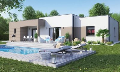 maison design toit plat Blavozy