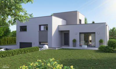grande maison design toit terrasse centre Issoire