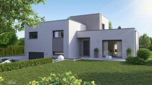 maison design sous-sol toit plat Clara