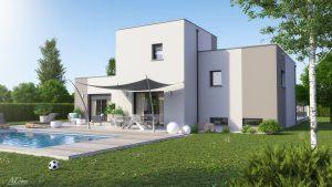 maison design sous-sol toiture terrasse Clara
