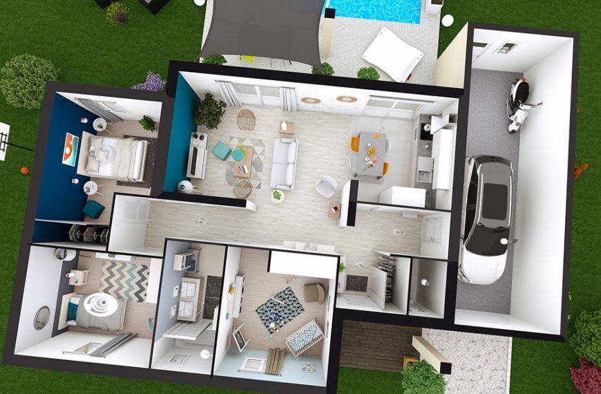 maison plain-pied design JULIA toit plat