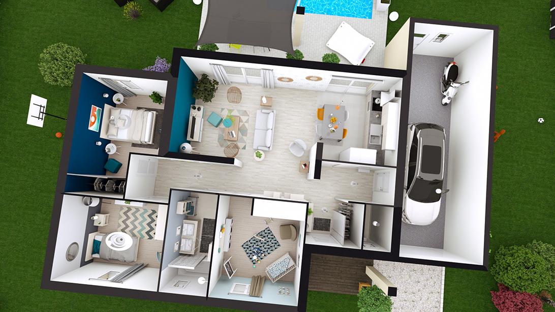 maison plain-pied design JULIA - LogiVelay
