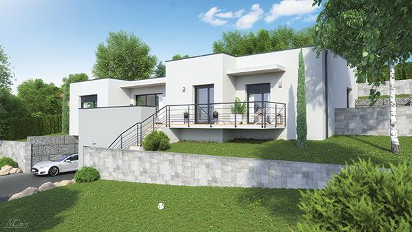 Maison architecte plan de maison par maisons france for Container maison brive