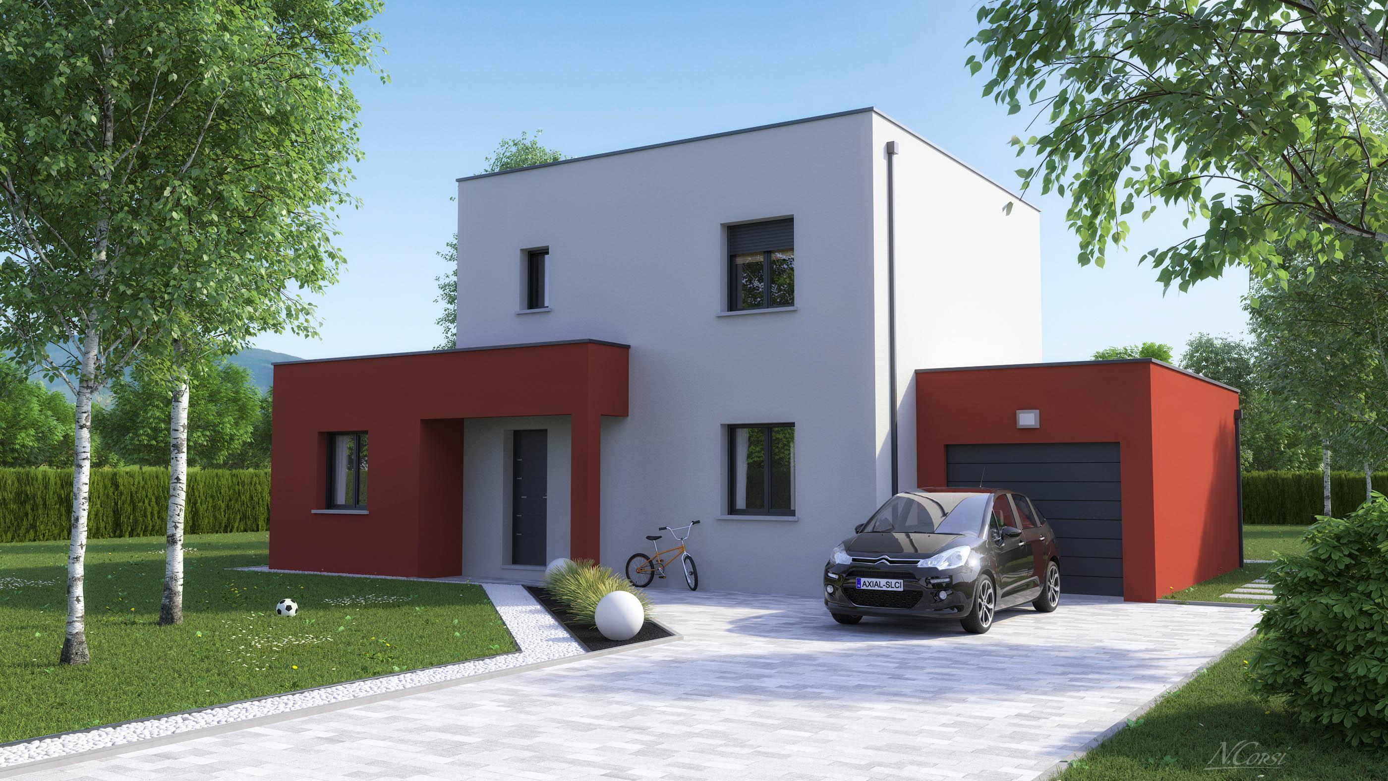 Maison moderne toit plat prix air archi style 8 concept - Prix maison toit plat ...