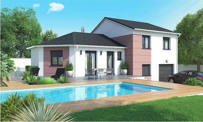 Maison demi sous sol moderne le monastier sur gazeille for Construire maison 90 000 euros