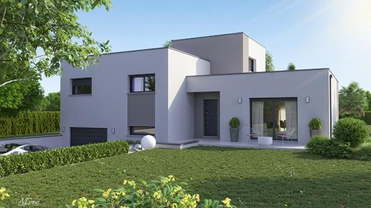 Maison architecture design issoire logivelay for Maison avec sous sol prix