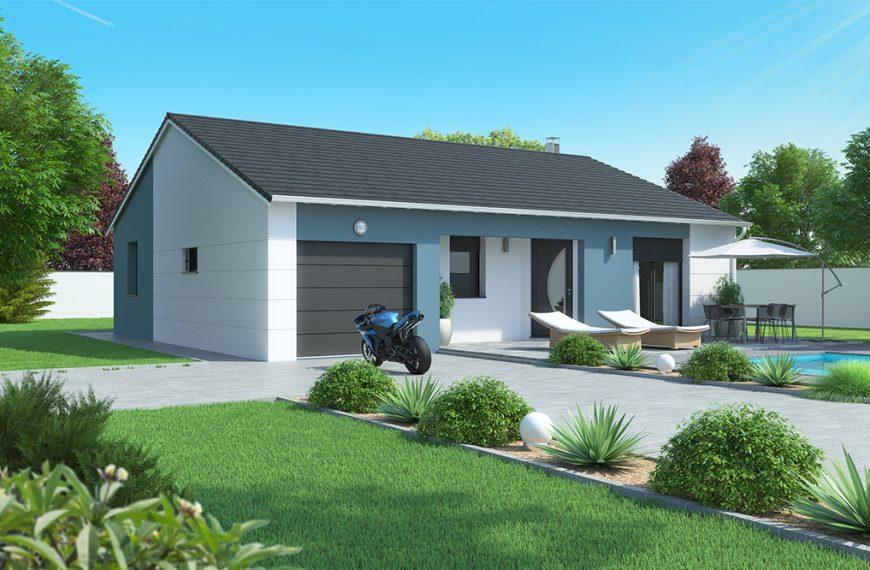 Maison plain-pied moderne Beaulieu 43800