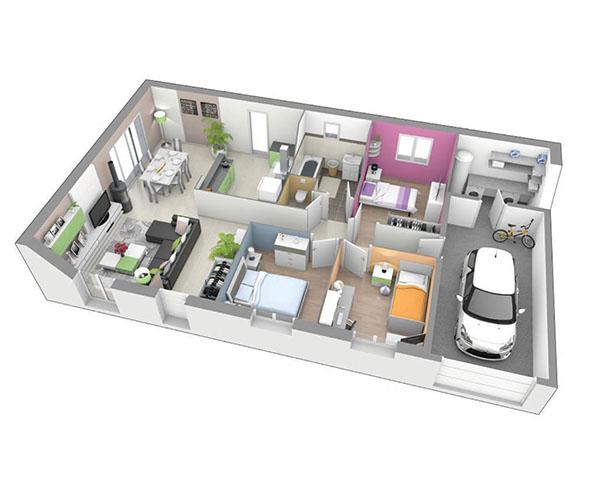 maison plain pied 43800 rosieres logivelay. Black Bedroom Furniture Sets. Home Design Ideas