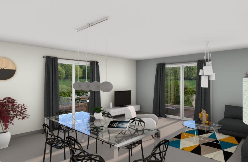 maison plain pied contemporaine Lavoute sur Loire 43800