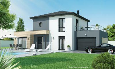 maison design toit terrasse pres Issoire