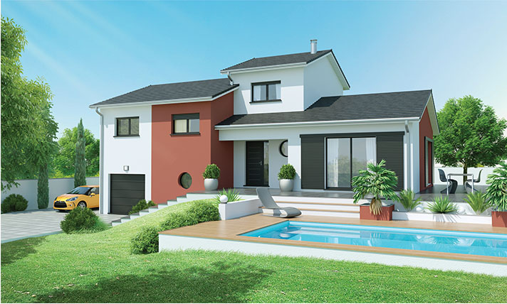 Maison contemporaine pr s issoire 63500 logivelay for Maison moderne carre