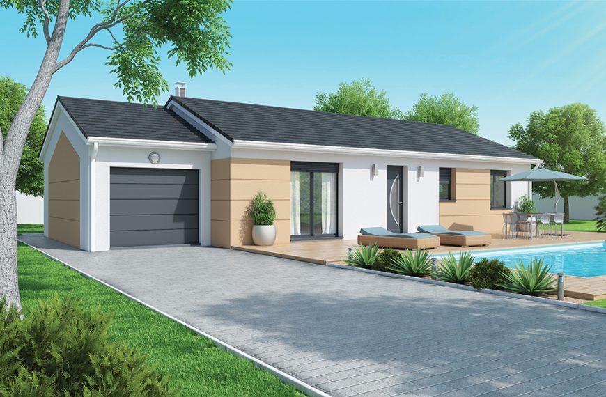 Maison moderne plain pied Rosieres 43800
