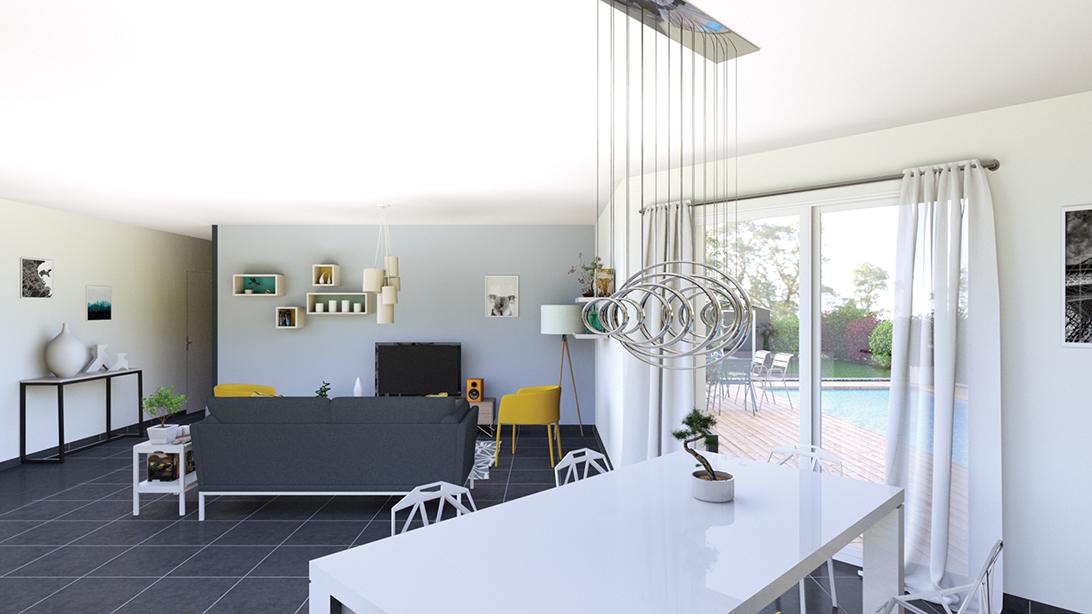 maison contemporaine Saint Germain Laprade 43700 - LogiVelay