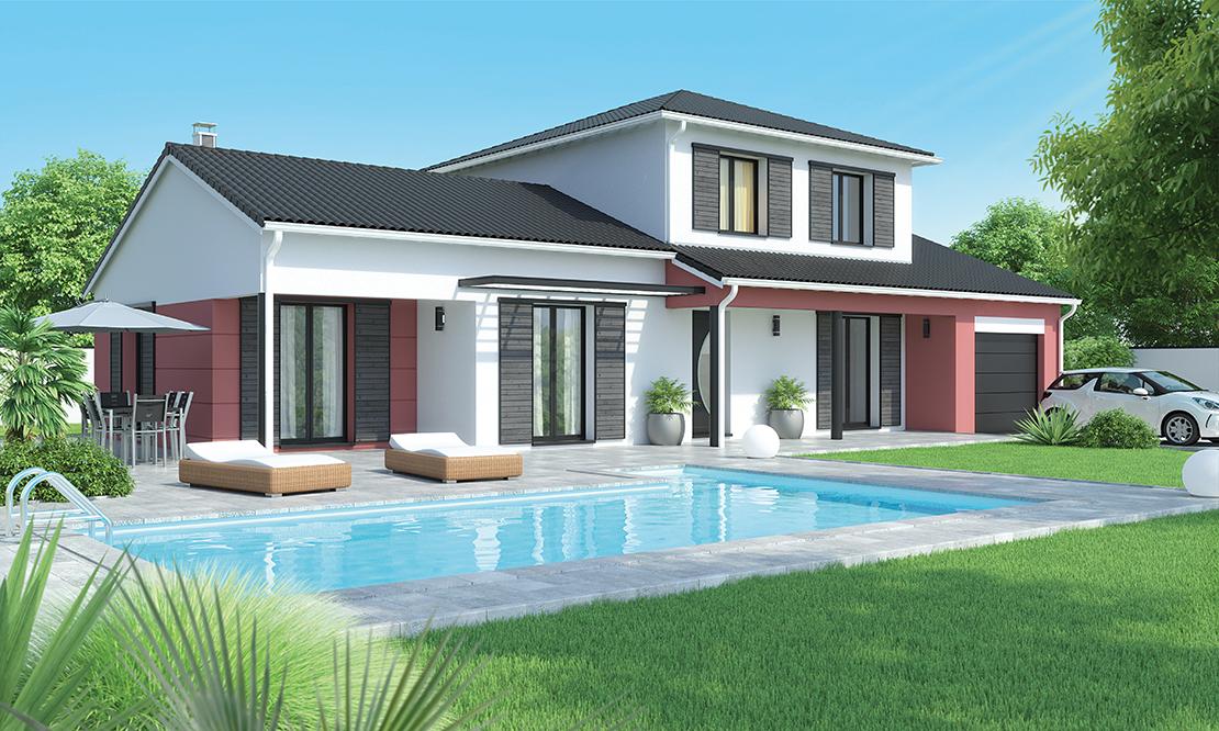 maison contemporaine tage pr s issoire 63500 logivelay. Black Bedroom Furniture Sets. Home Design Ideas