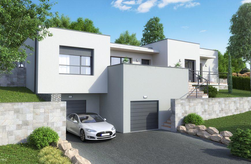 Maison design toit plat PLATINE