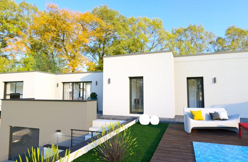 maison design avec toit plat