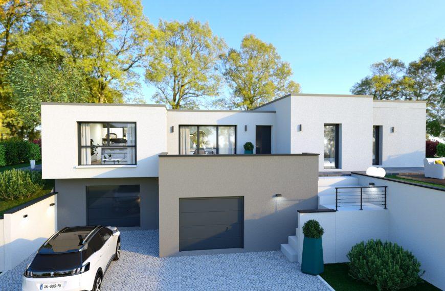 PLATINE, maison design à toit plat, 3 chambres