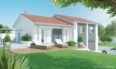 Maison contemporaine à faire construire à Coubon 43700.