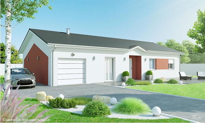 Maison plain-pied à Montfaucon en Velay 43290