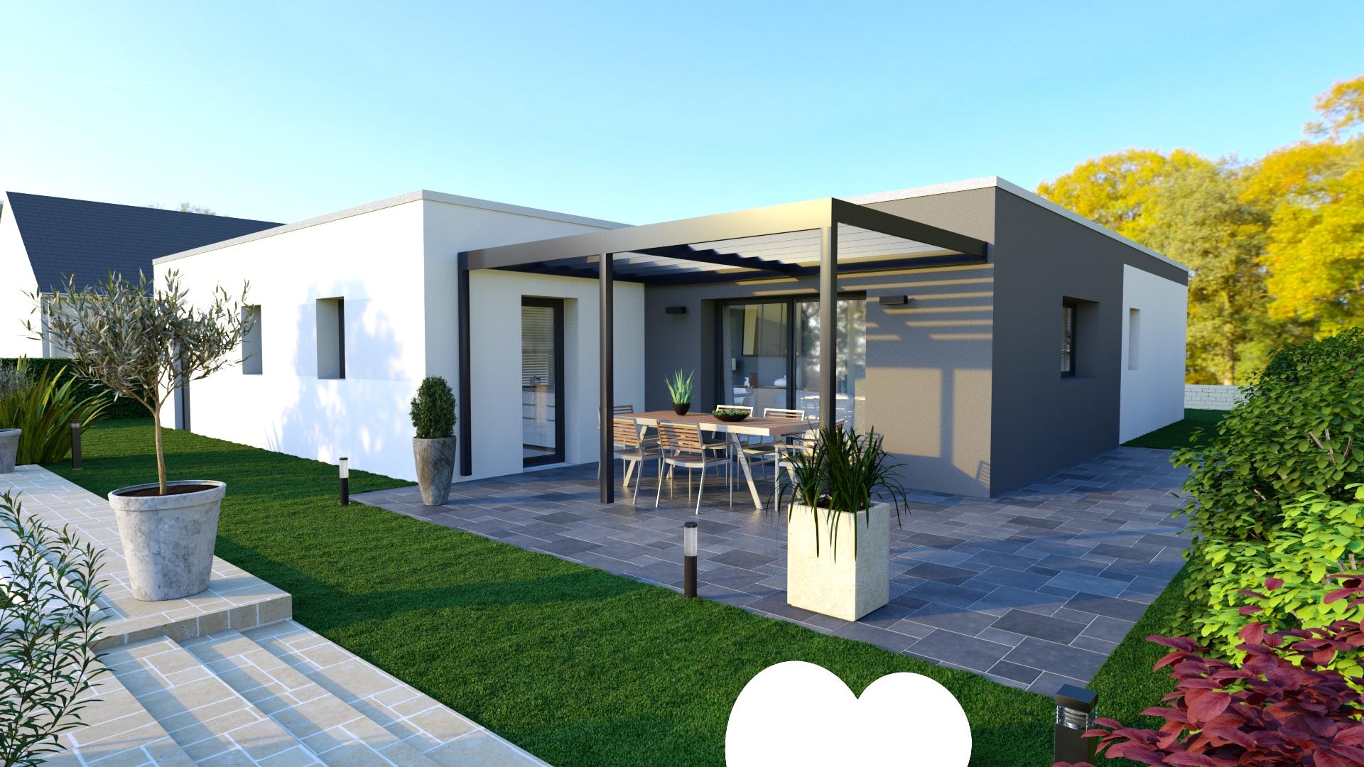 Maison design toit plat bas en basset logivelay for Maison design toit plat